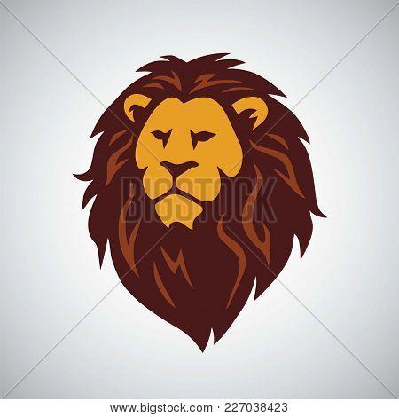 Wild African Lion Logo Vector Mascot Design Template
