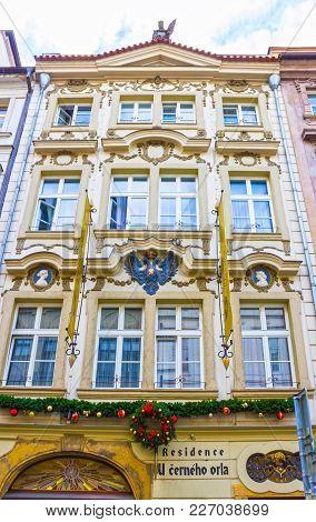 Prague, Czech Republic - December 31, 2017: Prague, Czech Republic - December 31, 2017: The Facade O
