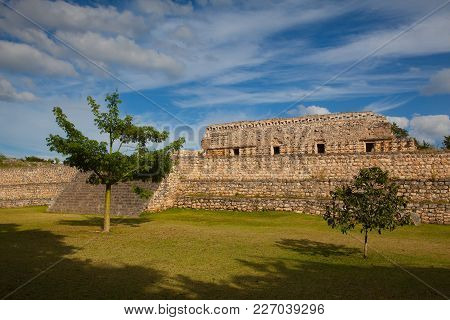 Majestic Ruins In Kabah ,mexico. The Kabah Ruins Were A Shipwreck Site Located In The Navassa Region