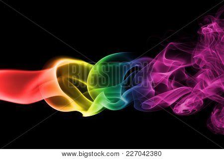 Colorful Rainbow Smoke, Gay Pride Flag Colors, Lgbt Community Flag