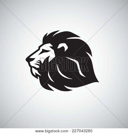 Lion Vector Icon Logo Template Design Illustration