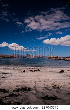 Macleods Tables, Isle Of Skye, Viewed From Oronsay Tidal Island.
