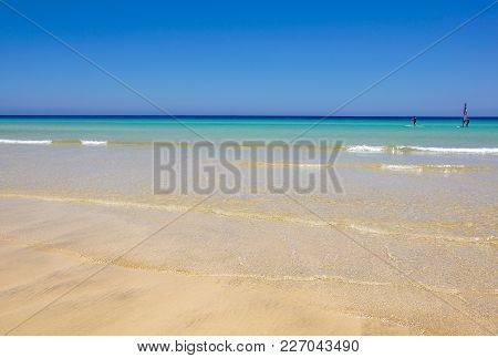 Beautiful White Sand Beach And Caribbean Sea