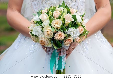Flower, Bouquet, Love, Day, Valentine, Marriage, Background, Hymeneal, Rings, Decoration, Concept, H