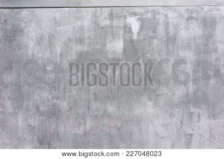 Dirty, Old Metal Surface. White-grey Grunge Texture. Close Up