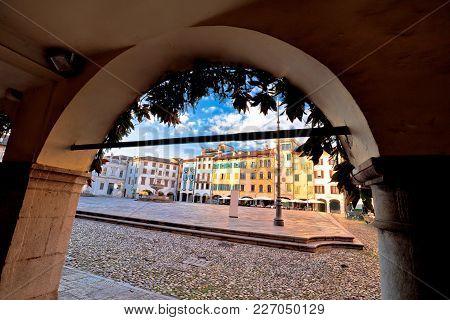 Piazza San Giacomo In Udine Landmarks View, Town In Friuli Venezia Giulia Region Of Italy