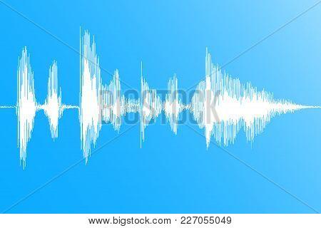 Sound Wave. Realistic Dynamic Soundwave, Music Digital Flow On Blue Background. Vector Illustration.