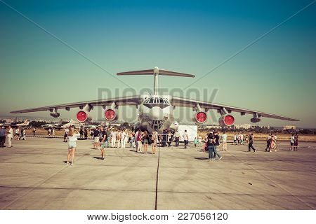 Engels, Russia - August 19, 2017: Day Of The Air Fleet. Airplane In The Aircraft Park