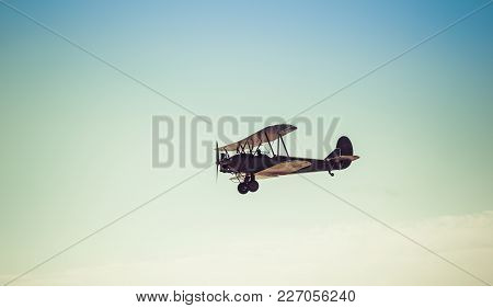 Biplane In The Sky, In The Air