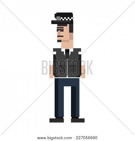 Illustration of a policeman