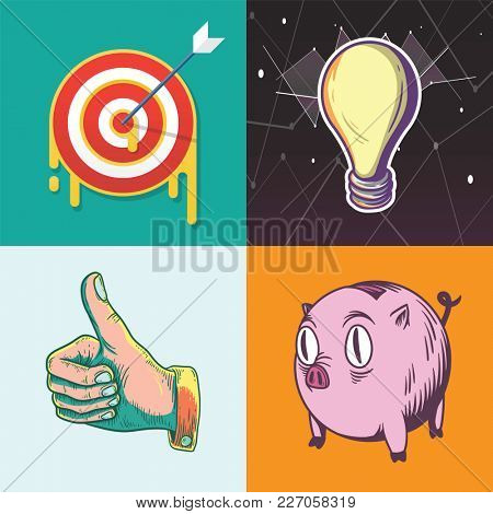 Illustrations of creative designs