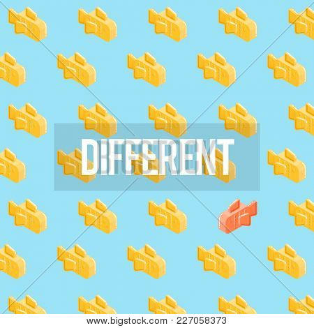 Different Goldfish Freedom Ideas Graphic
