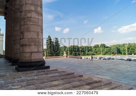 Lomonosov State University Iconic Building And Sightseeing In Moscow Russia
