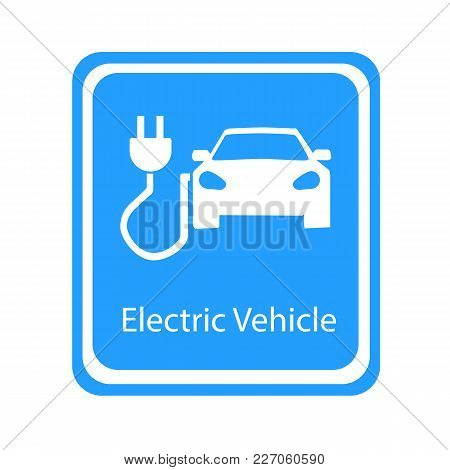 Electric Vechicle Plug Icon. Vector Illustration Eps 10