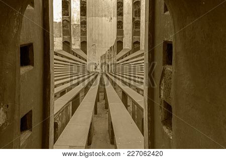 Inside View Of Rama Yantra Of Jantar Mantar - The Largest Astronomical Instrument In The World, New