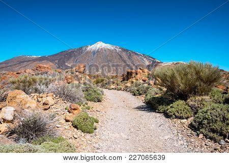 Teide Volcano In Tenerife. Spain. Canary Islands. Teide Is The Main Attraction Of Tenerife Island An