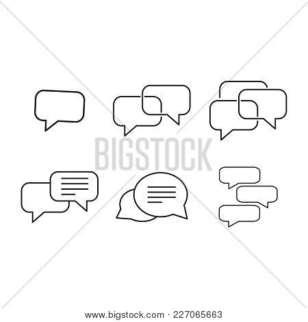 Set Message Icons On The White Background