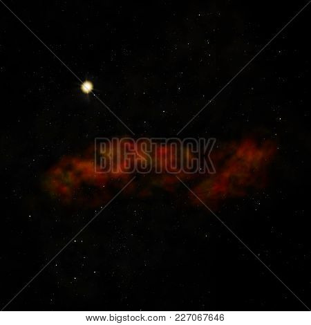Star Field In Space A Nebulae And A Gas Congestion. Elements Of This Image Furnished By Nasa . 3d Re