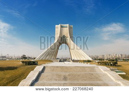 Tehran, January 17: Azadi Square With Azadi Tower, Symbol Of Tehran Capital On January 17, 2009 At T