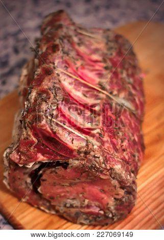 Fresh, Raw, Red, Steak, Bone, Brisket, Background, Food, Meat, Beef,