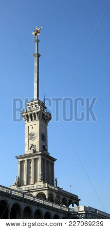 Image Of One Soviet Spire Of River Port