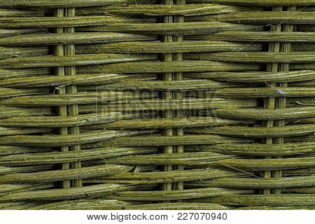 Green Weave, Natural Texture, Basket And Mat