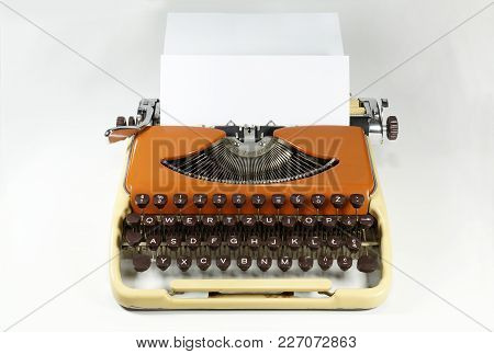 Zoom In On The Keys Of An Old Typewriter