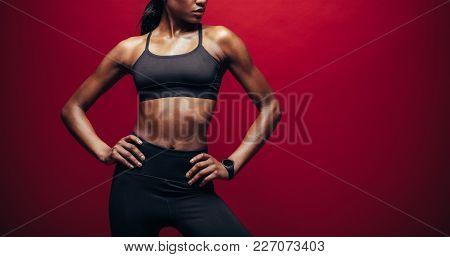 Woman In Sportswear With Fit Body