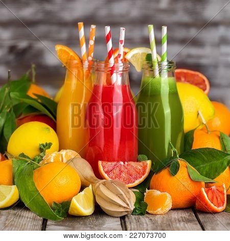 Orange, Blood Orange Juice And Lemonade