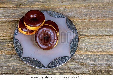 Glazed Chocolate Donuts Homemade Glazed Autumn Pumpkin Donuts Ready To Eat