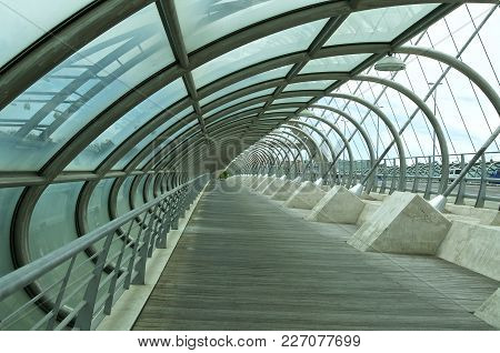 Third Millenium Modern Bridge In Zaragoza Spain