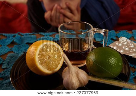Selection Of Food Against Colds And Flu