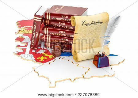 Constitution Of Serbia Concept, 3d Rendering Isolated On White Background