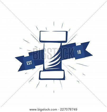 Pipe Vector Logo Of Plumbing Service In Simple Style. Can Be Used For Banners, Brochures