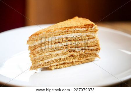Photo Of Delicious Dessert Of Honey In The Restaurant