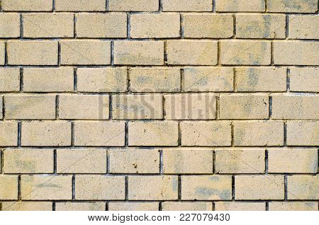 Brick Yellow Wall Backgraund. Vintageand Old Surface