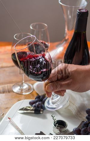 Professional Red Wine Tasting Event With High Quality Wine Glasses And Wine Accessories