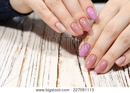 Perfect Manicure And Natural Nails.
