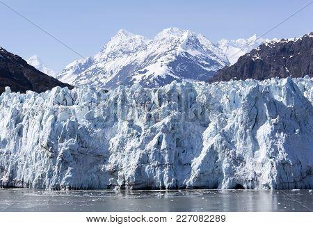 The View Of A Glacier In Glacier Bay National Park (alaska).