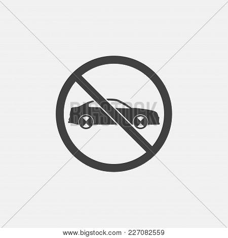 No Car Icon Vector Illustration. Transportation Icon Vector