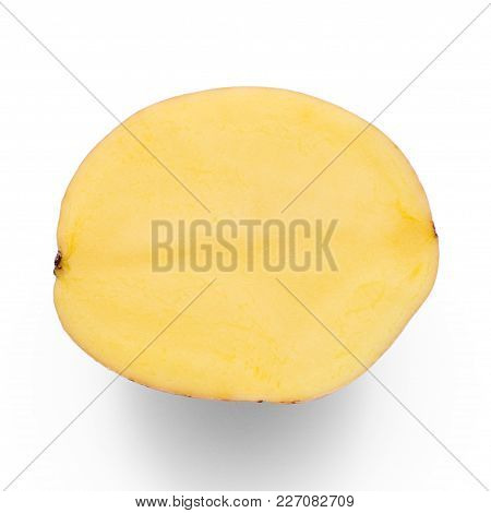 Potato Half Isolated On White Background Isolation