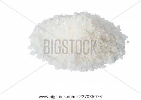 White Sea Salt Isolate From Above Is Composed Of A Hill