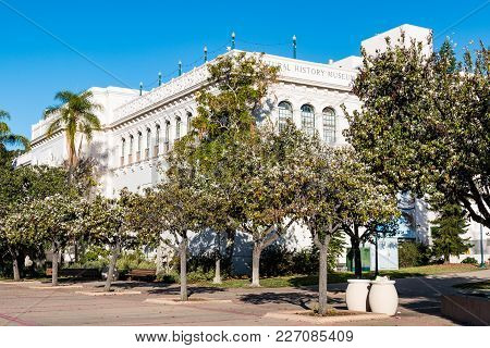 San Diego, California - January 26, 2018:  The Natural History Museum, Founded In 1874, Features A G
