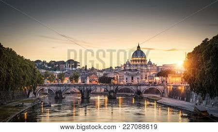 Rome At Sunset Italy
