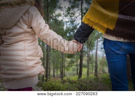 A Little Girl And Her Mothers Hands