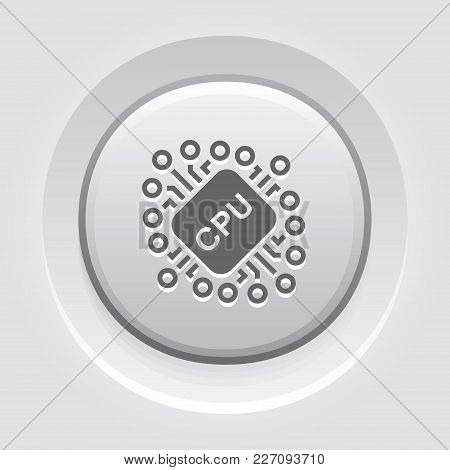 Cryptocurrency Cpu Mining. Modern Computer Network Technology Sign. Digital Graphic Symbol. Computer