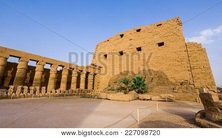 The First Pylon Of The Karnak Temple, Egypt