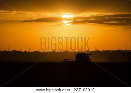 Agriculture Machine Harvesting Field.