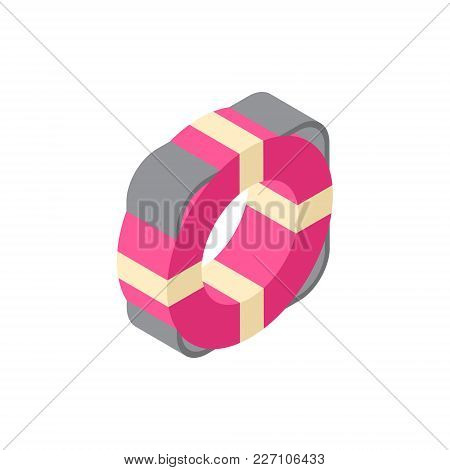 Life Buoy Saver Icon Isometric Isolated Travel Concept Vector Illustration
