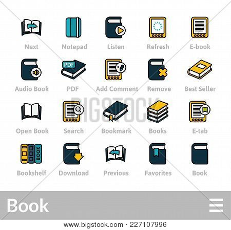 Outline Icons Thin Flat Design, Modern Line Stroke Style, Web And Mobile Design Element, Objects And